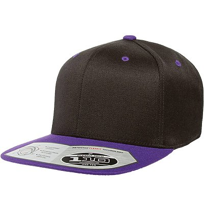 FLEXFIT Wool Blend Flat Bill Snap Back Cap