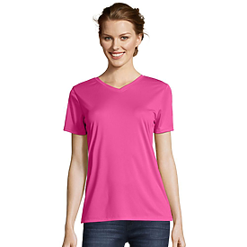 Hanes Ladies COOL DRI Performance V-Neck T-Shirt