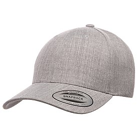 YUPOONG Five Panel Wool Blend Curved Visor
