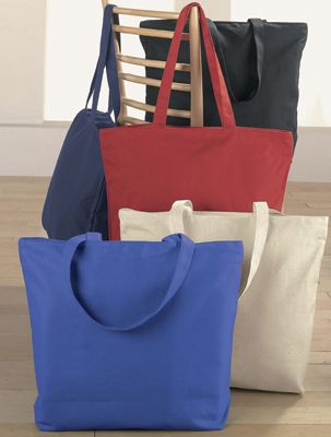 Augusta Canvas Zipper Tote