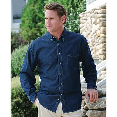 Jonathan Corey Mens 6.5oz Longsleeve Denim Shirt