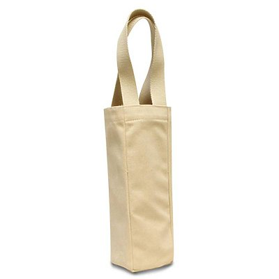 LIBERTY BAGS 10 oz. Canvas Single Wine Tote