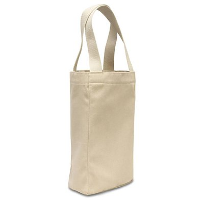 LIBERTY BAGS 10 oz. Canvas Double Wine Tote