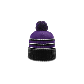 Richardson Caps Stripe Pom Baenie